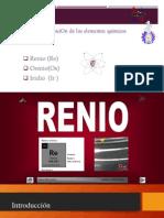 Exposicion de Quimica Renio...Iridio..Osmio