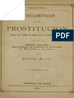Maira. Reglamentacion de La Prostitucion, 1887