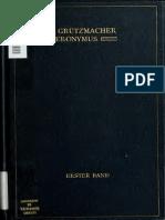 Grützmacher. Hieronymus