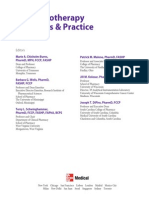Pharmacotherapy Principles & Practice3e Toc