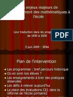 Les Enjeux Des Programmes 2008 - Mathématiques