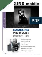 Samsung Player Style i Cerruti