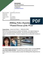 Wanted People of the Week-Peters