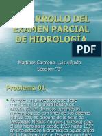 Desarrollo Del Examen Parcial de Hidrología