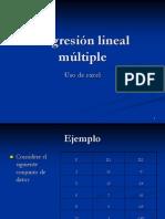 91 Ejemplo de Regresion Lineal Multiple Con Excel