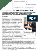 Página_12 __ El País __ La Respuesta Del Juez Zaffaroni Al Papa