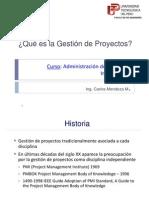 Clase API02 La Gestion de Proyectos 2014