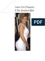 Cómo Tener Un Trasero Como El de Jessica Biel