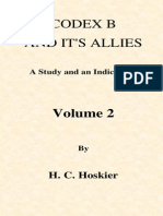 Codex B and Its Allies - Hoskier - Vol 2