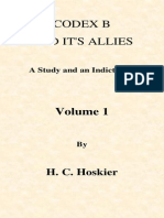 Codex B and Its Allies - Hoskier - Vol 1