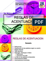 Reglas de Acentuacion en Power Point
