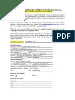 Ficha Examen Certificacion Inglés 2014