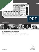 Europower PMP2000 Manual Beringher