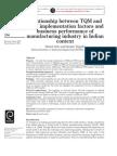TQM & TPM Implementation