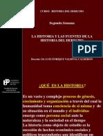 Segunda Clase- Historia y Fuentes de La Historia Del Derecho- 2014-i