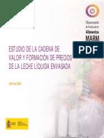 Estudio Cadena de Valor de La Leche Liquida Envasada España