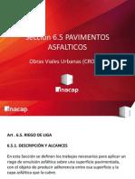 3.5-. Obras Viales Urbanas (CRO101) Pavimentos Asfalticos - Riego de Liga