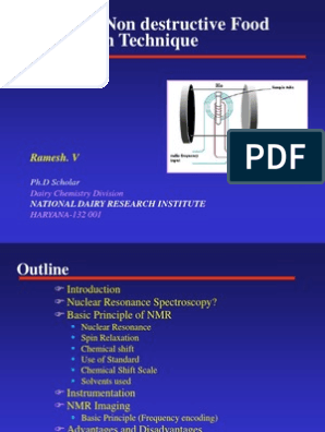 Nmr Slides Final Nuclear Magnetic Resonance Nuclear Magnetic