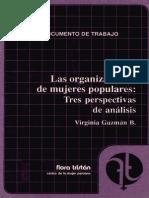 Las Organizaciones de Mujeres Populares Tres Perspectivas de Analisis