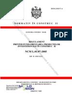 NCM.L.01.07-2005 Structura de formare a devizului in constructii
