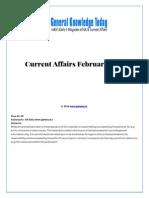 Current Affairs February 2014