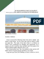 The letter of  Hazrat Abul Hasanat Abdullah Shah