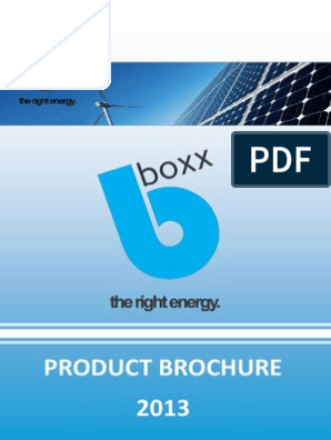 BBOXX Product Brochure | Power Inverter | Battery Charger