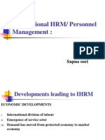 International HRM or Personnal Management
