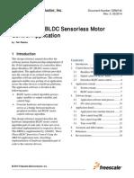 Three-Phase BLDC Sensorless Motor Control Application