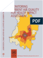 Monitoring Ambient Air Quality for Health Impact Assessment