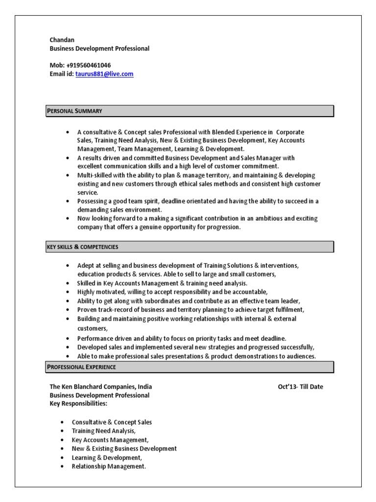 Business development profile description for dating