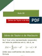 18_Séries de Taylor e de Maclaurin