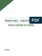 Promovarea Agroturismului Intr-o Agentie de Turism