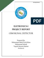 GSM SIGNAL DETECTOR