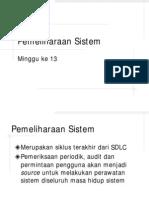 Testing 13 System Maintenance