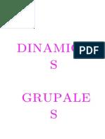 DINAMICAS GRUPALES