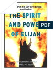 Spirit and Power of Elijah