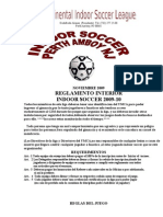Indoor Soccer Rules2009-10