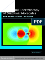 Alan Carrington John M Brown Rotational Spectroscopy of Diatomic Molecules 2007