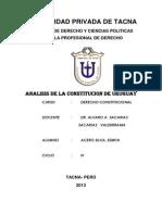 Analisis de Constitucion de Uruguay