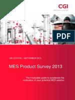 MES Product Survey 2013 Flyer