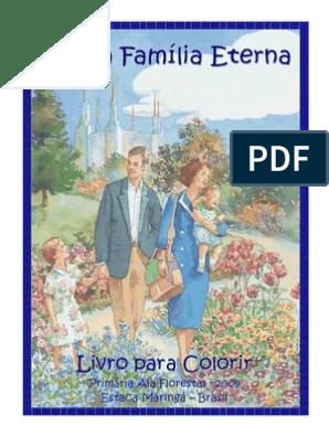 Livro Para Colorir Minha Familia Eterna Batismo Jesus