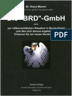 Maurer Wolfgang Dr_Die BRD GmbH 2013
