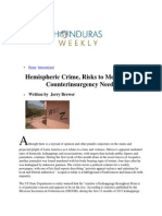 Hemispheric Crime, Risks to Mexico and Counterinsurgency Needs