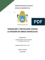 Transicion y Proteccion Contra La Erosion en Obras Hidralicas
