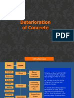 deterioration of concrete