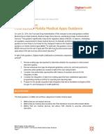 Regulatory Alert Mobile App Guidance Revised - DH LifeBrands- June 2014