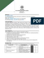 Accounting Information System Syllabus