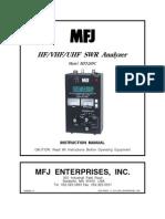 Mfj-269c User Manual