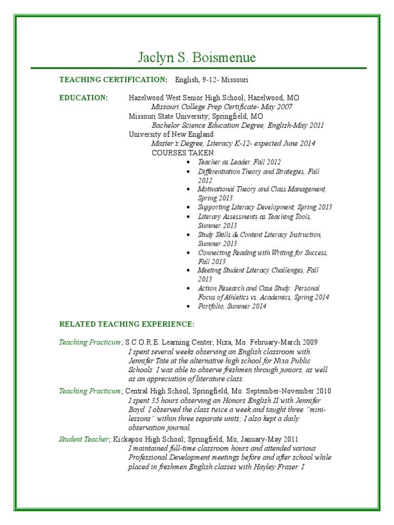 Une Resume Educational Organizations Sharing